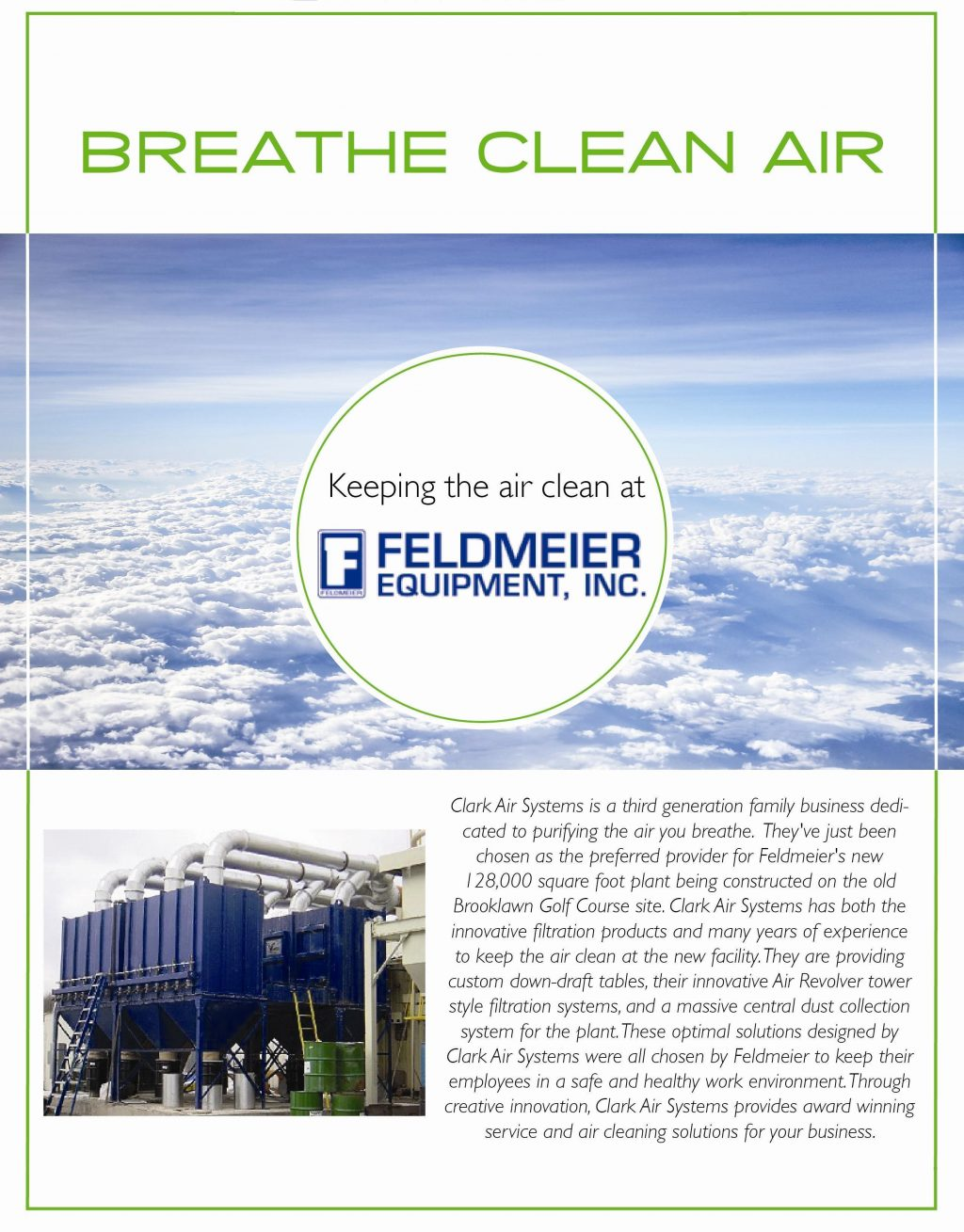 Industrial Air Cleaners at Feldmeier Equipment Inc
